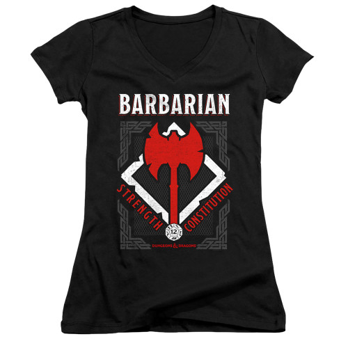 Image for Dungeons and Dragons Girls V Neck T-Shirt - Barbarian