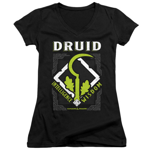 Image for Dungeons and Dragons Girls V Neck T-Shirt - Druid