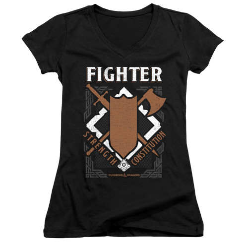 Image for Dungeons and Dragons Girls V Neck T-Shirt - Fighter