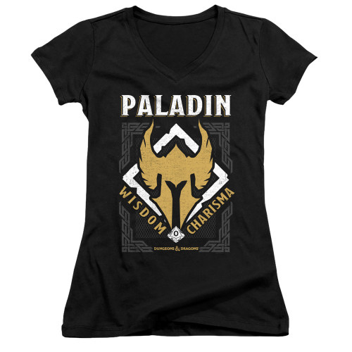 Image for Dungeons and Dragons Girls V Neck T-Shirt - Paladin
