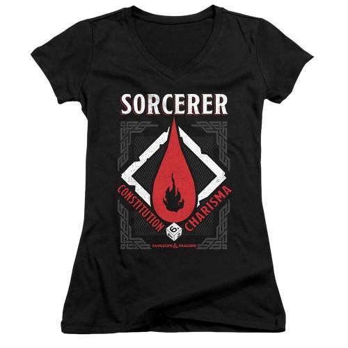 Image for Dungeons and Dragons Girls V Neck T-Shirt - Sorcerer