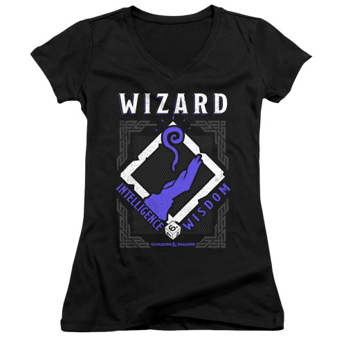 Image for Dungeons and Dragons Girls V Neck T-Shirt - Wizard