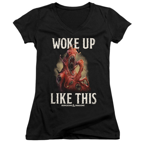 Image for Dungeons and Dragons Girls V Neck T-Shirt - Woke Like This