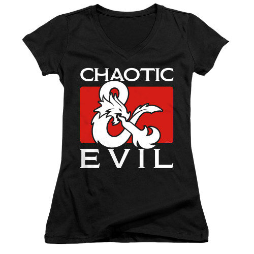 Image for Dungeons and Dragons Girls V Neck T-Shirt - Chaotic Evil
