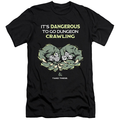 Image for Dungeons and Dragons Premium Canvas Premium Shirt - Dangerous to Go Alone