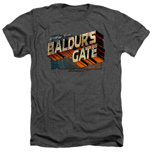 Image for Dungeons and Dragons Heather T-Shirt - Baldurs Gate