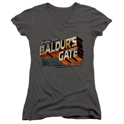 Image for Dungeons and Dragons Girls V Neck T-Shirt - Baldurs Gate