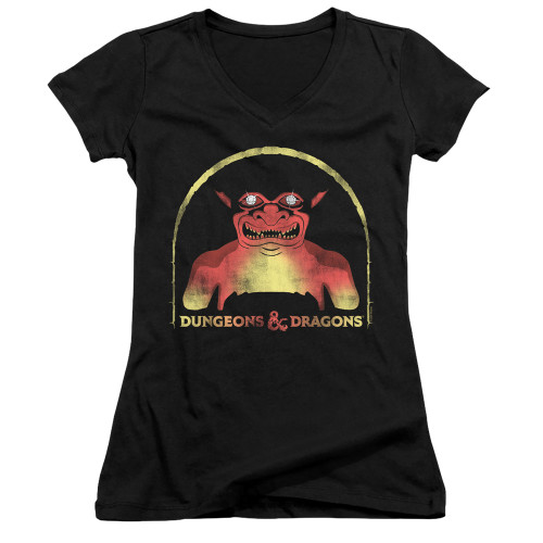 Image for Dungeons and Dragons Girls V Neck T-Shirt - Old School