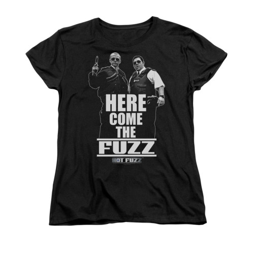 Image for Hot Fuzz Woman's T-Shirt - Here Comes the Fuzz