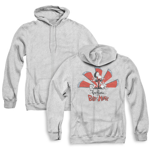 Image for The Grim Adventures of Billy and Mandy Zip Up Back Print Hoodie - Grim Adventures