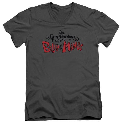 Image for The Grim Adventures of Billy and Mandy V-Neck T-Shirt Grim Logo