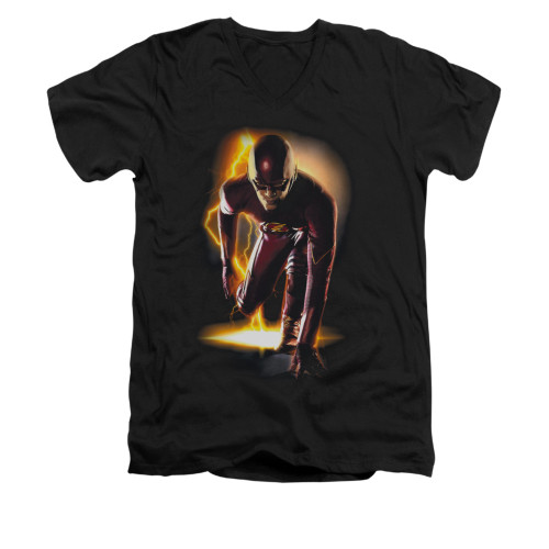 Image for Flash TV Show V-Neck T-Shirt - Ready