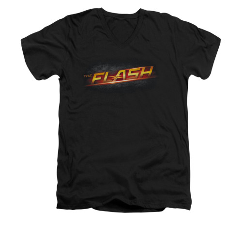 Image for Flash TV Show V-Neck T-Shirt - Logo