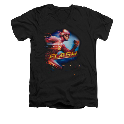 Image for Flash TV Show V-Neck T-Shirt - Fastest Man