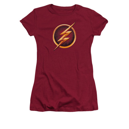 Image for Flash TV Show Girls T-Shirt - Chest Logo