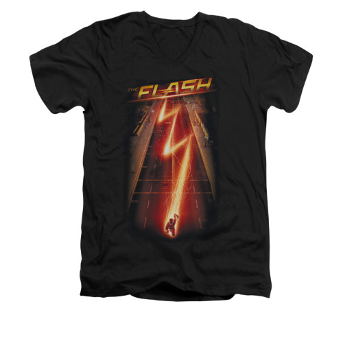 Image for Flash TV Show V-Neck T-Shirt - Flash Ave.