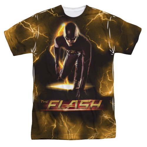 Image for Flash TV Show Sublimated T-Shirt - Bolt 100% Polyester