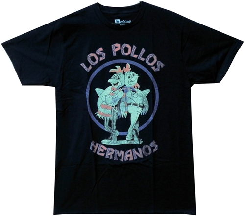 Image Closeup for Breaking Bad T-Shirt - Los Pollos Hermanos Distressed Logo