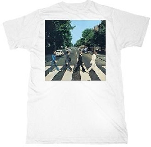 Image Closeup for The Beatles Abbey Road Walk T-Shirt