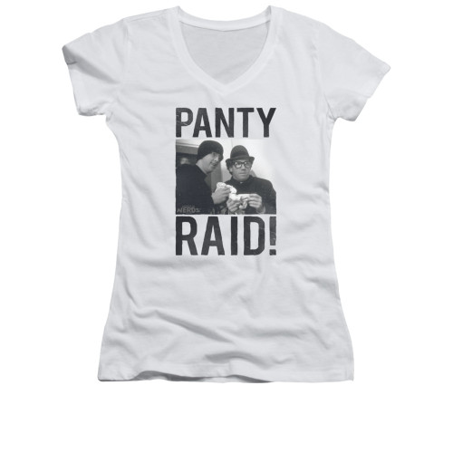 Image for Revenge of the Nerds Girls V Neck T-Shirt - Panty Raid