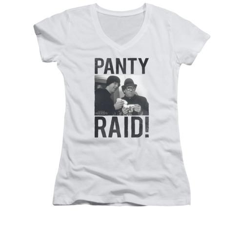 Image for Revenge of the Nerds Girls V Neck T-Shirt - Panty Raid