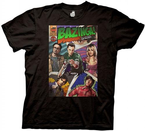 Image Closeup for Big Bang Theory Bazinga Comic Book T-Shirt