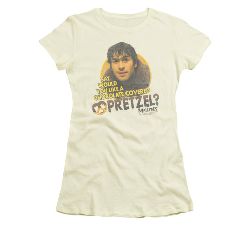 Image for Mallrats Girls T-Shirt - Pretzels
