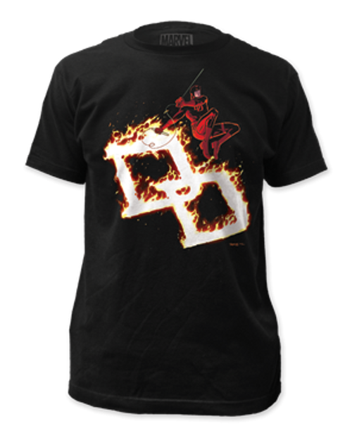 Image for Daredevil T-Shirt - Flames