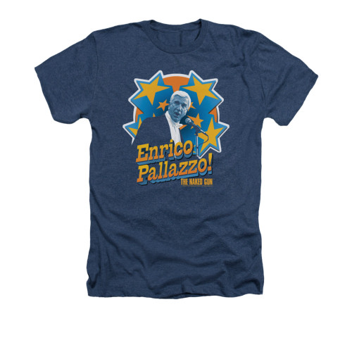 Image for Naked Gun Heather T-Shirt - It's Enrico Pallazzo