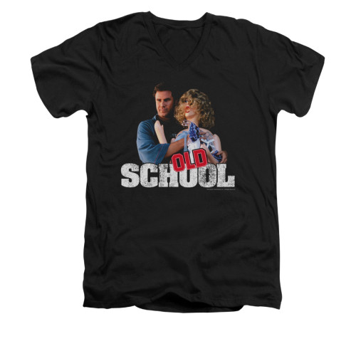 Image for Old School V-Neck T-Shirt - Frank and Friend