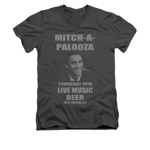 Image for Old School V-Neck T-Shirt - Mitchapalooza