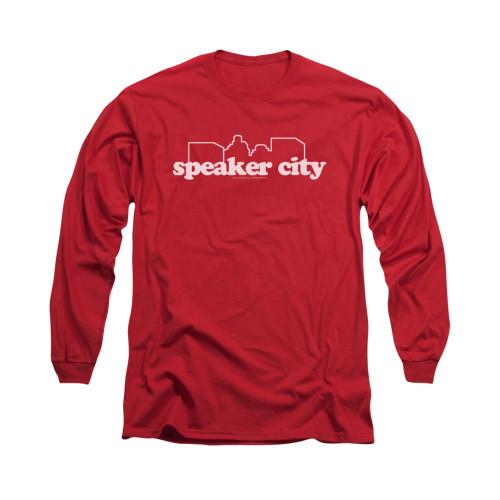 Image for Old School Long Sleeve T-Shirt - Speaker City Logo