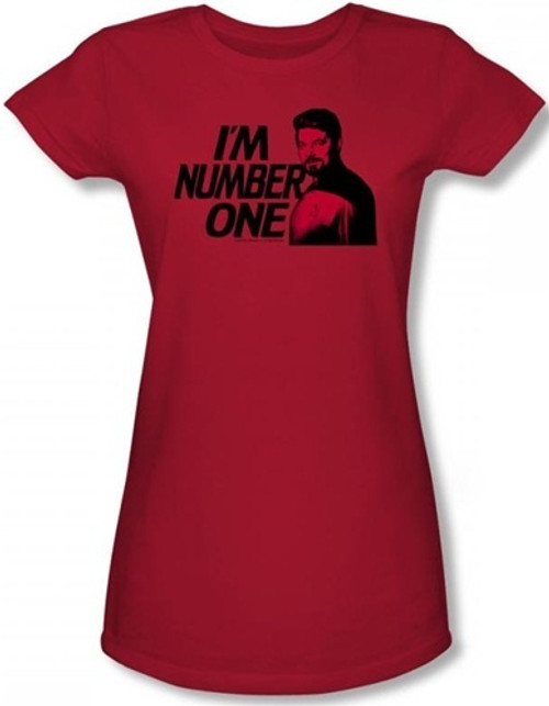 Image for Star Trek the Next Generation Girls T-Shirt - I'm Number One