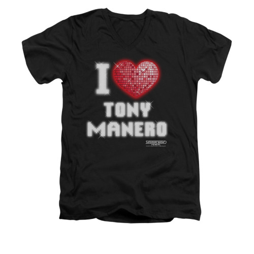 Image for Saturday Night Fever V-Neck T-Shirt - I Heart Tony