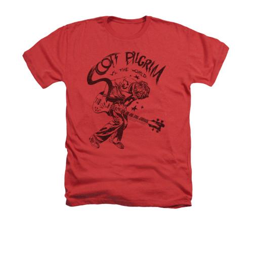 Image for Scott Pilgrim vs. The World Heather T-Shirt - Rockin'