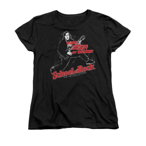 Image for School of Rock Woman's T-Shirt - Rockin'