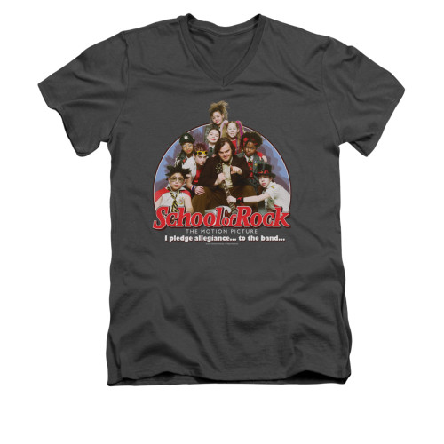 Image for School of Rock V-Neck T-Shirt - I Pledge Allegiance