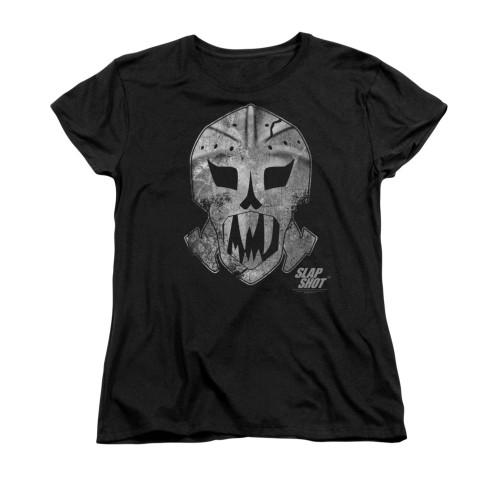 Image for Slap Shot Woman's T-Shirt - Goalie Mask