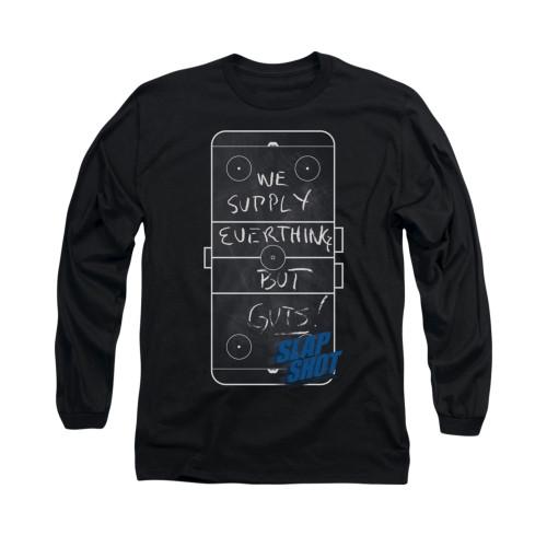 Image for Slap Shot Long Sleeve T-Shirt - Chalkboard