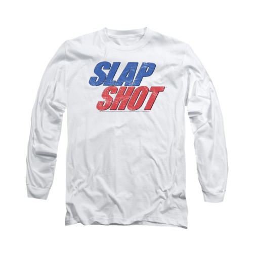 Image for Slap Shot Long Sleeve T-Shirt - Blue & Red Logo
