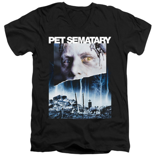 Image for Pet Sematary V-Neck T-Shirt Poster Art