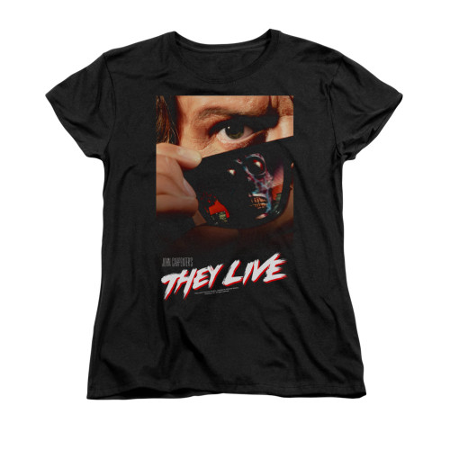 Image for They Live Woman's T-Shirt - Poster