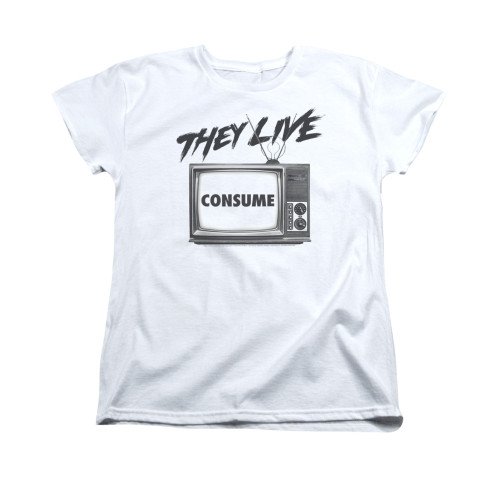 Image for They Live Woman's T-Shirt - Consume