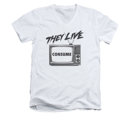 Image for They Live V-Neck T-Shirt - Consume