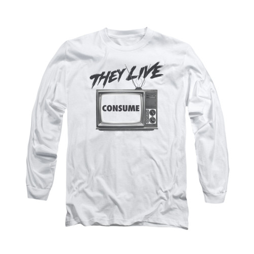 Image for They Live Long Sleeve T-Shirt - Consume