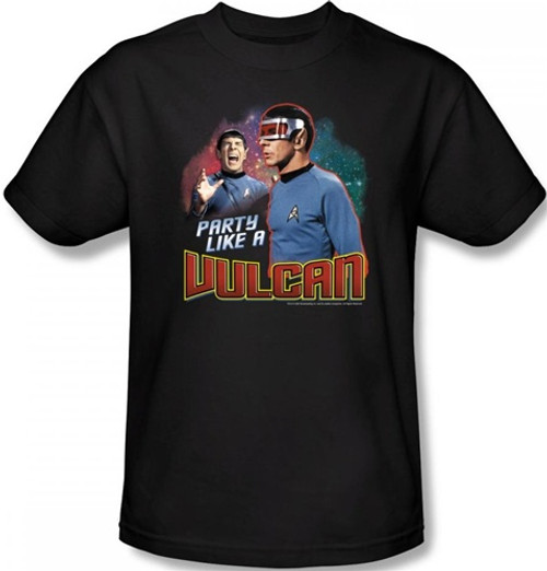 Image Closeup for Star Trek T-Shirt - Party Like a Vulcan