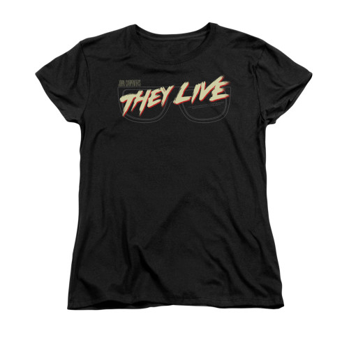 Image for They Live Woman's T-Shirt - Glasses Logo