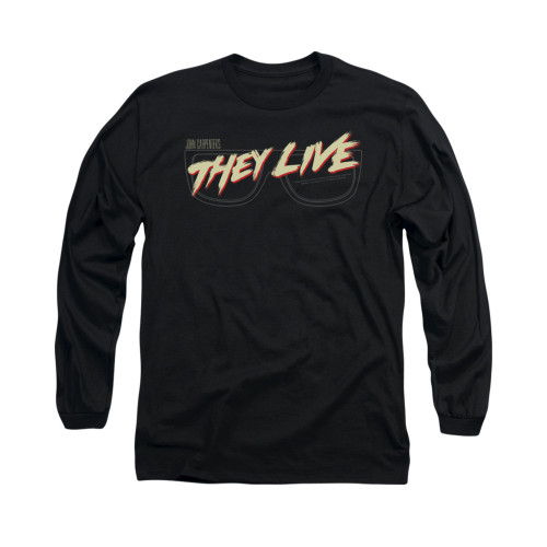 Image for They Live Long Sleeve T-Shirt - Glasses Logo