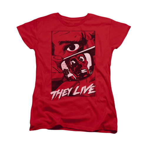 Image for They Live Woman's T-Shirt - Graphic Poster