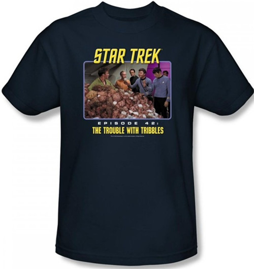 Image Closeup for Star Trek Episode T-Shirt - Episode 42 The Trouble With Tribbles